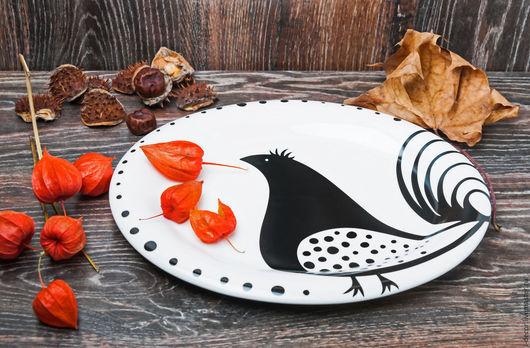Блюдо фарфоровое из Ракульской коллекции i-decor