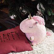 Наборы ручной работы. Ярмарка Мастеров - ручная работа Подарки: игрушки единорог розовый. Handmade.