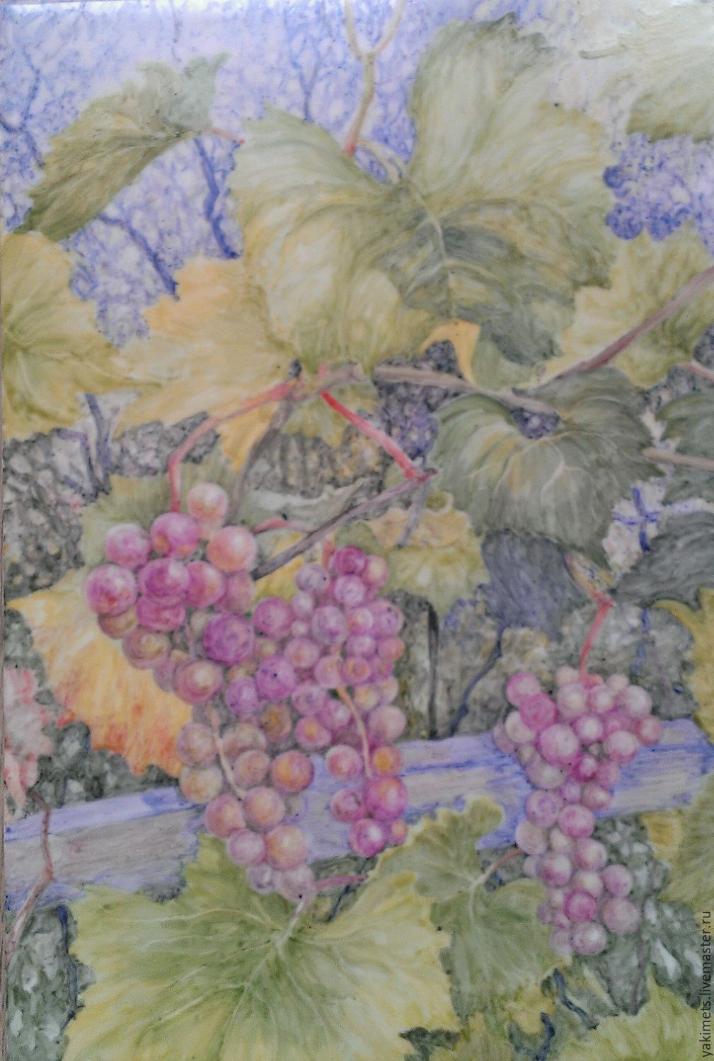 Speet grapes (tiles), Pictures, Zaoksky,  Фото №1