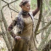 """Одежда ручной работы. Ярмарка Мастеров - ручная работа Бохо-платье """"Мхи"""" (войлок, эко-крашение). Handmade."""