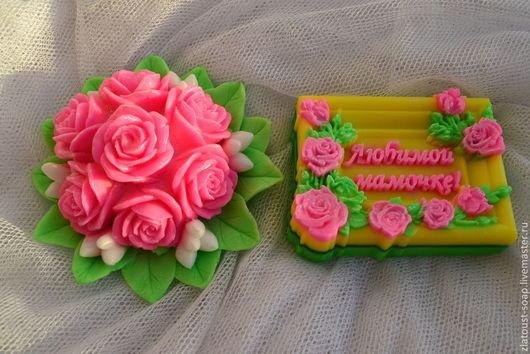 Мыло ручной работы. Ярмарка Мастеров - ручная работа. Купить Букет роз. Handmade. Фуксия, мыло