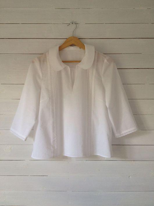 Блузки ручной работы. Ярмарка Мастеров - ручная работа. Купить Бохо блузка из белого хлопка. Handmade. Блуза, белый, бохо