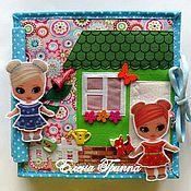 Кукольные домики ручной работы. Ярмарка Мастеров - ручная работа Домик - книжка для двух кукол #59#. Handmade.