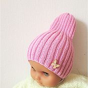 Работы для детей, ручной работы. Ярмарка Мастеров - ручная работа Шапочка-резинка розовая. Handmade.