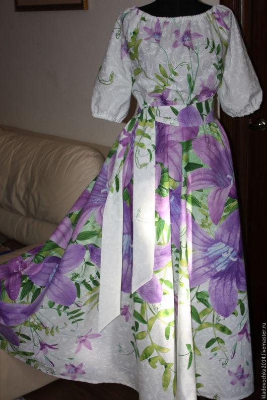 """Платья ручной работы. Ярмарка Мастеров - ручная работа. Купить Платье """"Колокольчики"""". Handmade. Белый, колокольчики, крупный цветы"""