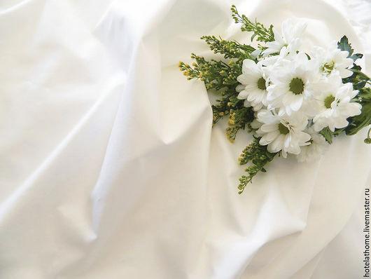 Шитье ручной работы. Ярмарка Мастеров - ручная работа. Купить Сатин белая ткань для постельного белья.. Handmade. Белый