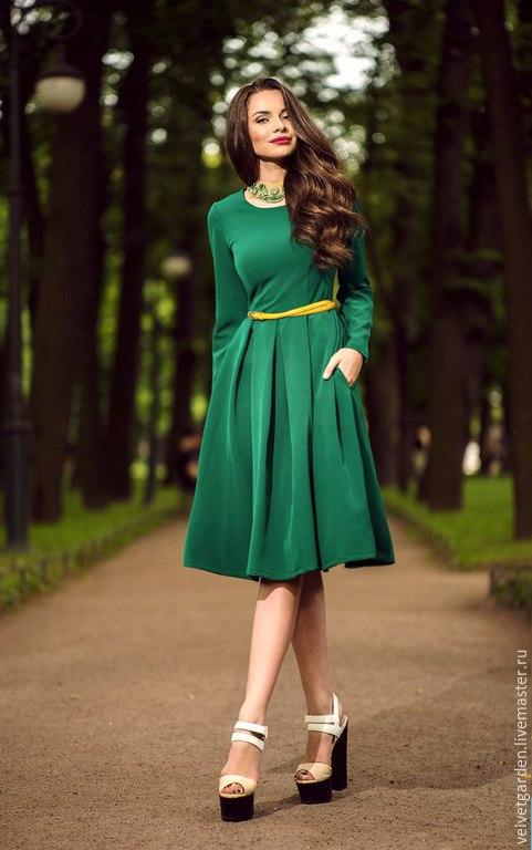 Платье с бантовыми складками Леди,женственное платье, стильное платье, романтичное платье,  мастерская Velvet Garden