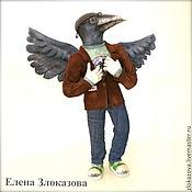 Куклы и игрушки ручной работы. Ярмарка Мастеров - ручная работа Ворон - птица высокого полёта.... Handmade.
