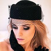 Аксессуары handmade. Livemaster - original item Felt hat-pilotka