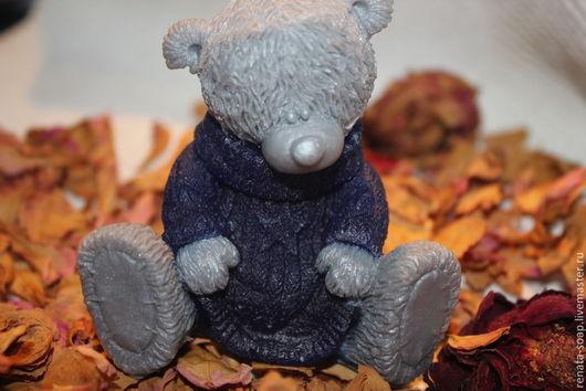"""Мыло ручной работы. Ярмарка Мастеров - ручная работа. Купить Мыло ручной работы """"Тедди в свитере"""". Handmade. Тедди, свитер"""