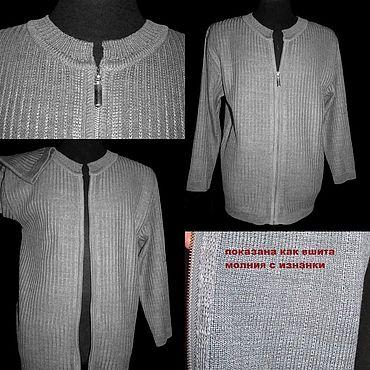Clothing handmade. Livemaster - original item Natural flax. Jacket with zipper
