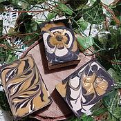 Косметика ручной работы handmade. Livemaster - original item silk soap Black honey. Handmade.
