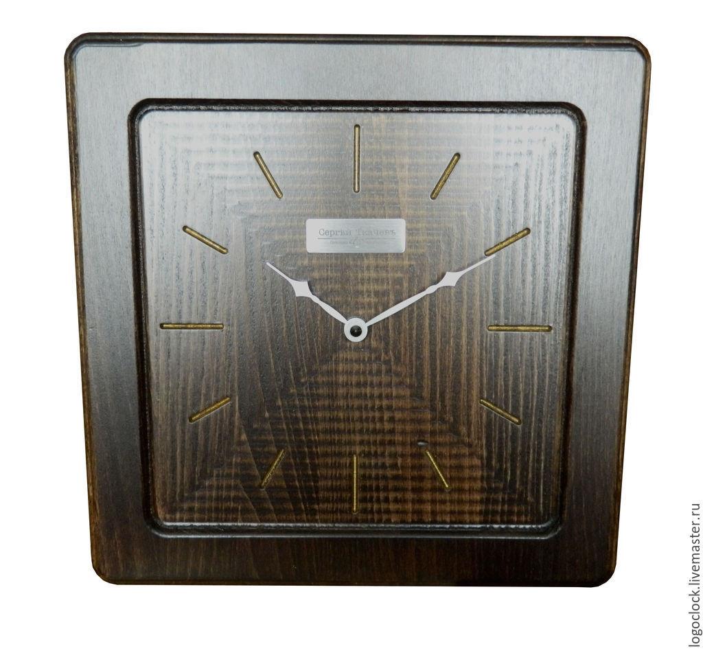 Часы для дома ручной работы. Ярмарка Мастеров - ручная работа. Купить Настенные часы. Бук. Старое золото. Шесть. Handmade.