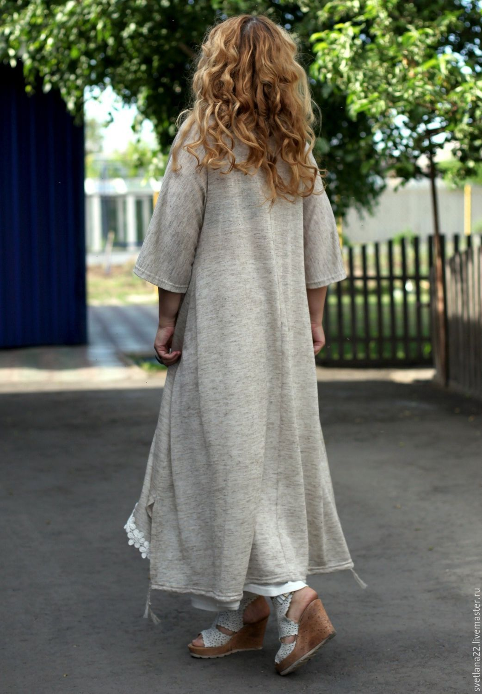 Авторское платье из льна