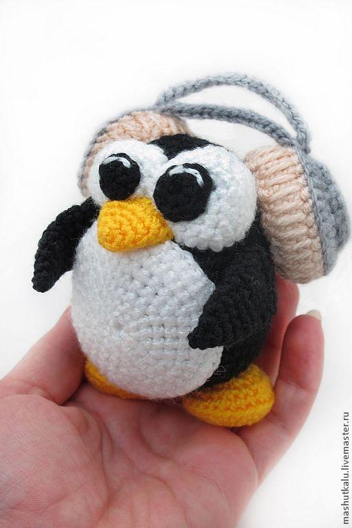 схема вязания крючком пингвин