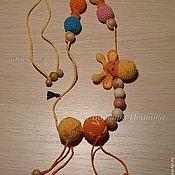 """Слингобусы ручной работы. Ярмарка Мастеров - ручная работа Слингобусы-четки  """"Жирафик"""". Handmade."""