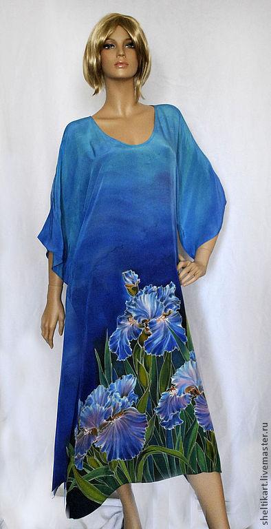 """Платья ручной работы. Ярмарка Мастеров - ручная работа. Купить Платье """" Ирисы """". Handmade. Рисунок"""
