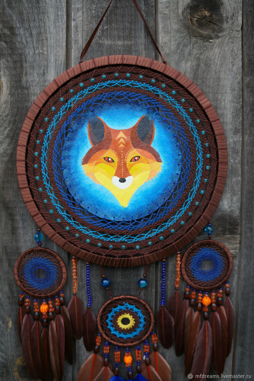 Dream catcher Mr. Fox dream Trap with Fox wall decor Big catcher, Dream catchers, Godsend,  Фото №1