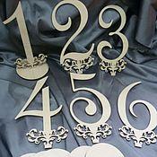 Материалы для творчества ручной работы. Ярмарка Мастеров - ручная работа Остатки,цифры 20см, с 1-6. Handmade.