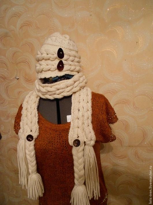 """Шарфы и шарфики ручной работы. Ярмарка Мастеров - ручная работа. Купить шапка+ шарф  """"КОКЕТКА"""". Handmade. Шапка вязаная из шерсти"""