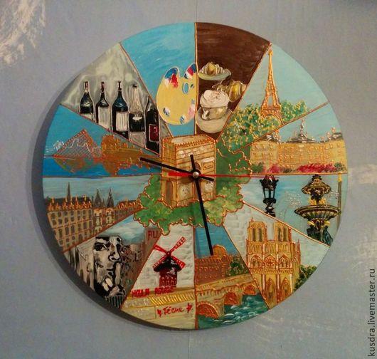 """Часы для дома ручной работы. Ярмарка Мастеров - ручная работа. Купить Часы """"Мой Париж"""" (My Paris...). Handmade."""