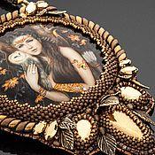 Сувениры и подарки handmade. Livemaster - original item Lacquer miniature Forest Goddess Diana painting on the stone. Handmade.