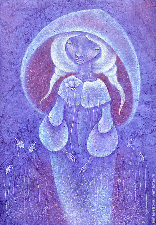 Время колокольчиков. Картина славянское фэнтези. Русский стиль картина.