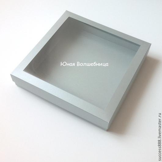 Оригинальная упаковка, серая коробка с окошком, серебристая коробка, коробка для украшений, фирменная упаковка, упаковка для подарка, подарочная упаковка