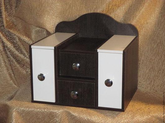 Мини-комоды ручной работы. Ярмарка Мастеров - ручная работа. Купить Большая настольная подставка- органайзер для косметики - 2. Handmade.