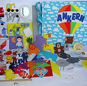 Куклы и игрушки ручной работы. Ярмарка Мастеров - ручная работа Развивающая книга для мальчика. Handmade.