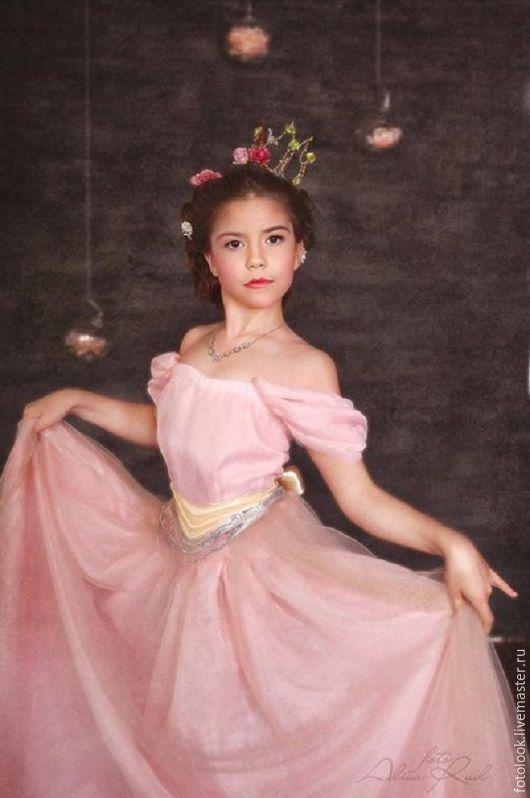 Детские карнавальные костюмы ручной работы. Ярмарка Мастеров - ручная работа. Купить Розовое платье Принцессы. Handmade. Розовый