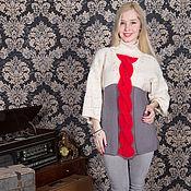 Одежда ручной работы. Ярмарка Мастеров - ручная работа Туника вязаная-авторская работа. Handmade.