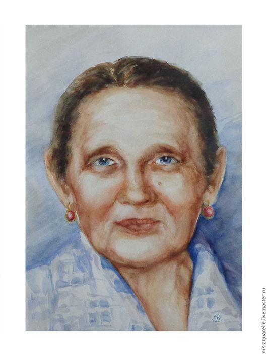 Люди, ручной работы. Ярмарка Мастеров - ручная работа. Купить Картина акварелью Портрет женщины. Handmade. Комбинированный, картина в подарок