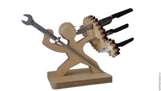 """Кухня ручной работы. Ярмарка Мастеров - ручная работа. Купить Подставка для ножей """"Механик"""". Handmade. Подставка для ножей, дерево, подставка"""