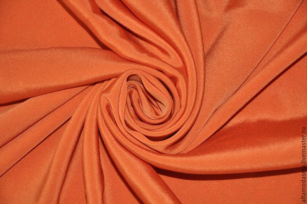 """Шитье ручной работы. Ярмарка Мастеров - ручная работа. Купить Вискозное кади """"Armani"""". Handmade. Вечернее платье, оранжевый цвет"""