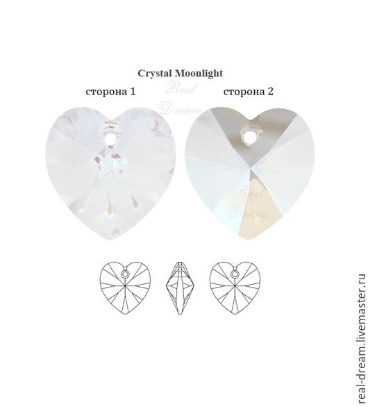 Для украшений ручной работы. Ярмарка Мастеров - ручная работа. Купить Swarovski 6228, 18 мм, Crystal Moonlight. Handmade.