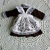 Одежда для кукол ручной работы. Ярмарка Мастеров - ручная работа Школьная форма для текстильной куколки. Handmade.