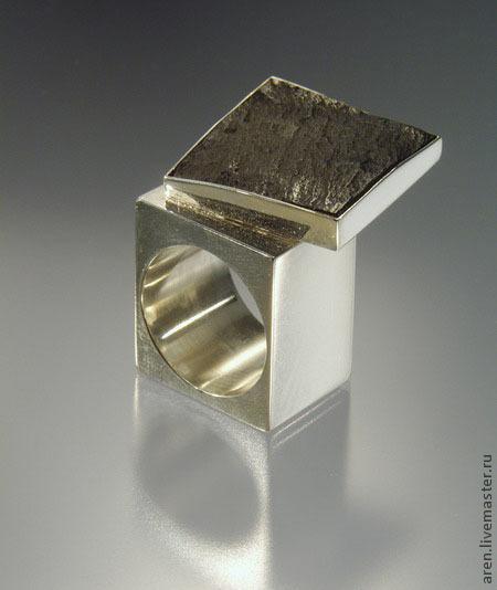 """Кольца ручной работы. Ярмарка Мастеров - ручная работа. Купить Кольцо """"Черный квадрат"""". Handmade. Белый, авторская работа, кольцо"""