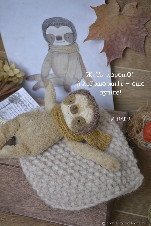 Ленивец Валик (шуршащая игрушка антистресс), Игрушки, Обнинск, Фото №1