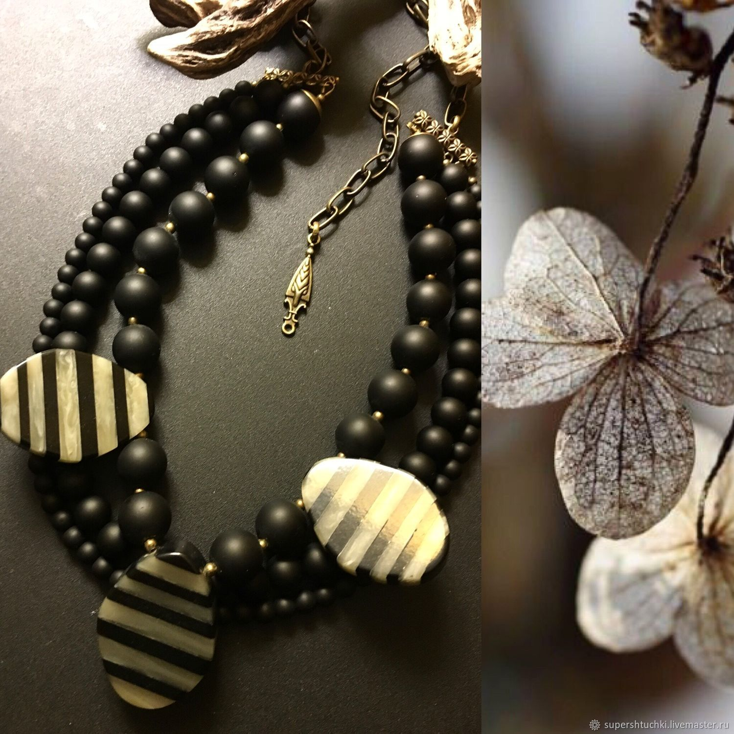 Necklace 'Dublin' with agate, Necklace, St. Petersburg,  Фото №1