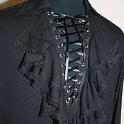 Одежда handmade. Livemaster - original item Cambric shirt with frills and lacing. Handmade.