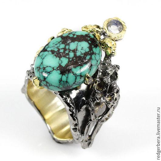 """Кольца ручной работы. Ярмарка Мастеров - ручная работа. Купить Эксклюзивное кольцо ручной работы """"Неустрашимый дух"""" бирюза. Handmade."""