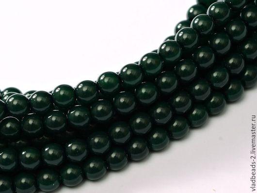Для украшений ручной работы. Ярмарка Мастеров - ручная работа. Купить Бусины 4мм чешские стеклянные Dark Green. Handmade.