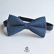 Аксессуары handmade. Livemaster - original item Tie Mr. / dark blue butterfly tie polka dot. Handmade.