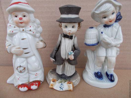 Винтажные предметы интерьера. Ярмарка Мастеров - ручная работа. Купить Три статуэтки  Каподимонте   винтаж, Италия. Handmade. Комбинированный, подарок