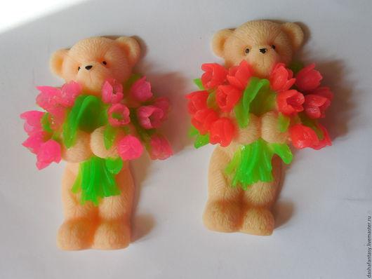мишка с цветами - (30-35 грамм)= 15 грн