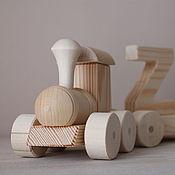 Материалы для творчества ручной работы. Ярмарка Мастеров - ручная работа Деревянный поезд с именем. Handmade.