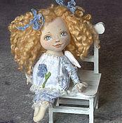 Куклы и игрушки ручной работы. Ярмарка Мастеров - ручная работа Ангелочек-незабудка. Кукла текстильная интерьерная.. Handmade.