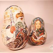 Русский стиль ручной работы. Ярмарка Мастеров - ручная работа Дед Мороз и Снегурочка. Handmade.
