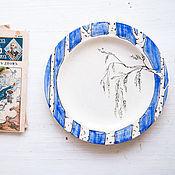 Посуда handmade. Livemaster - original item Birch`s retro. A plate of food, ceramics. Handmade.